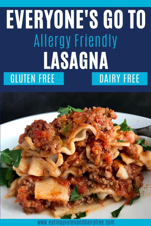 Easy Gluten And Dairy Free Lasagna Recipe Dairy Free Recipes Dinner Dairy Free Lasagna Gluten Free Dairy Free Dinner