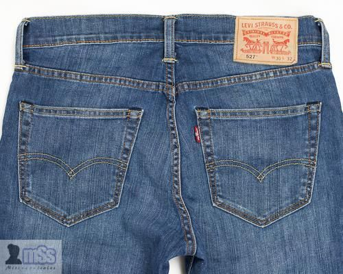 Men Levis 527 Slim Fit Boot Cut Jeans in Mostly Mid Blue sz W30 L32