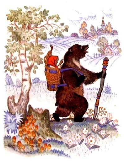 Masha I Medved 2 Russkaya Skazka Fairytale Art Fairytale Illustration Bear Art