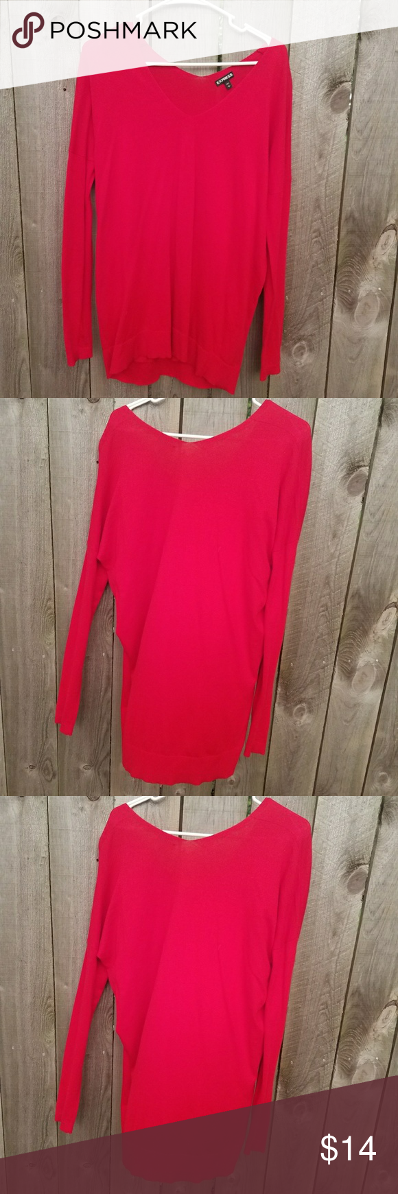 NWOT Express red tunic sweater