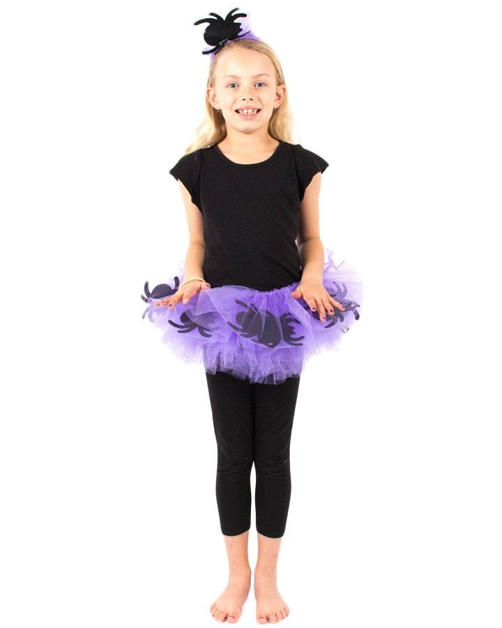 PurpleTutu with Floating Spiders and Headband