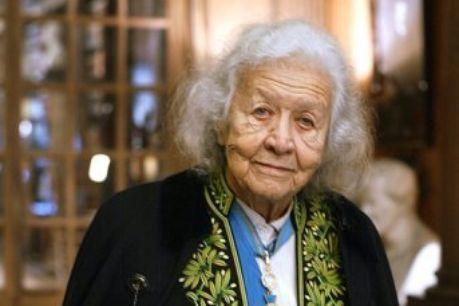 L'académicienne Madame Jacqueline de Romilly