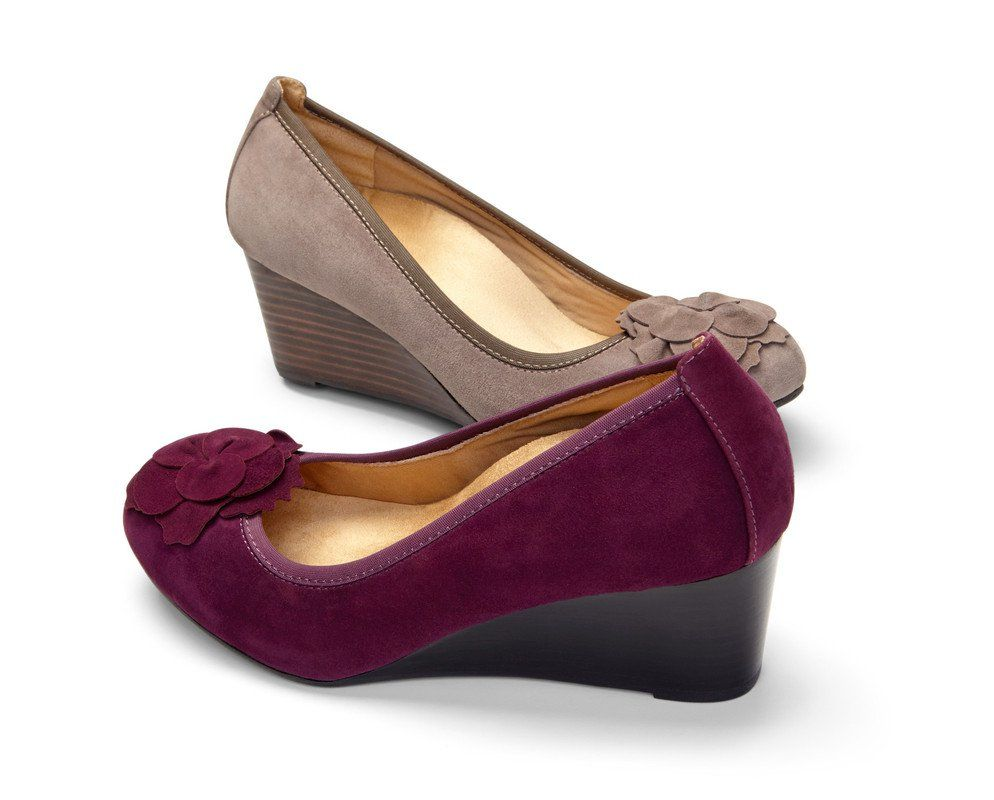 Add luxury to your wardrobe with a pair of Elevated Hayes Wedges from Vionic  Shoes.