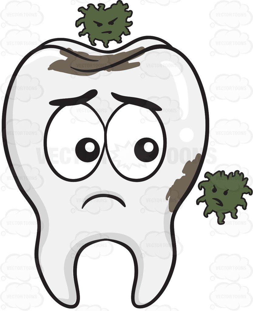 Free coloring pages germs - Tooth Being Infested By Germs Cartoon Clipart