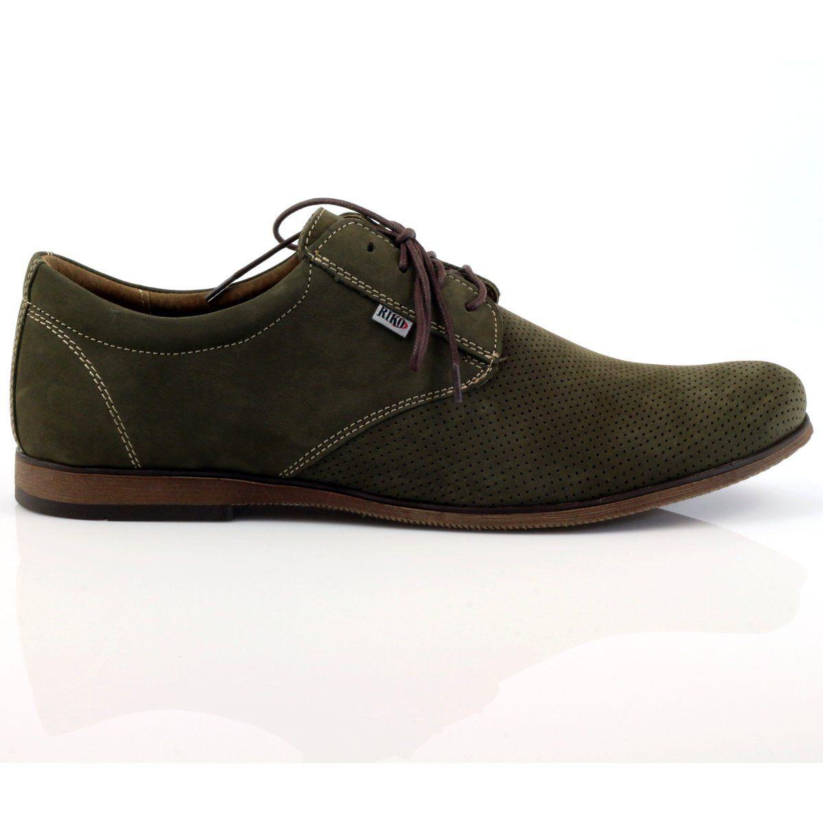 Riko Buty Meskie Polbuty Casual 777d Zielone Dress Shoes Men Mens Casual Shoes Casual Shoes