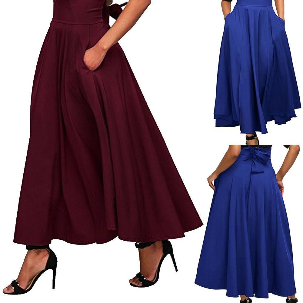 2019 year style- Waist high skirts long