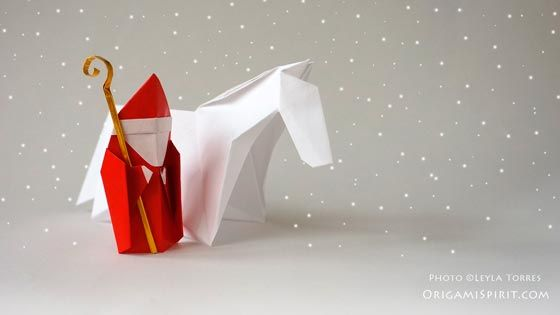post image for christmas origami how to make a saint. Black Bedroom Furniture Sets. Home Design Ideas
