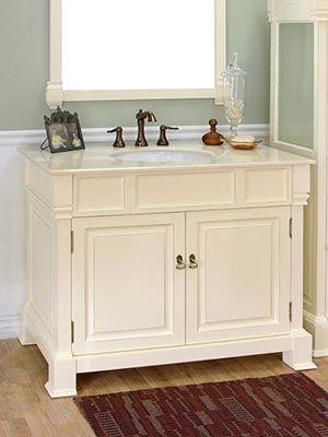 42 Helena Single Bath Vanity Cream Bathroom Vanity