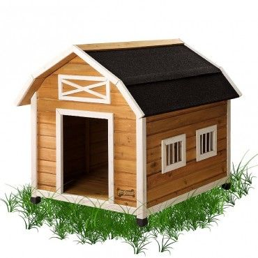 The Country Barn Wooden Doghouse Is An Affordable Country Style