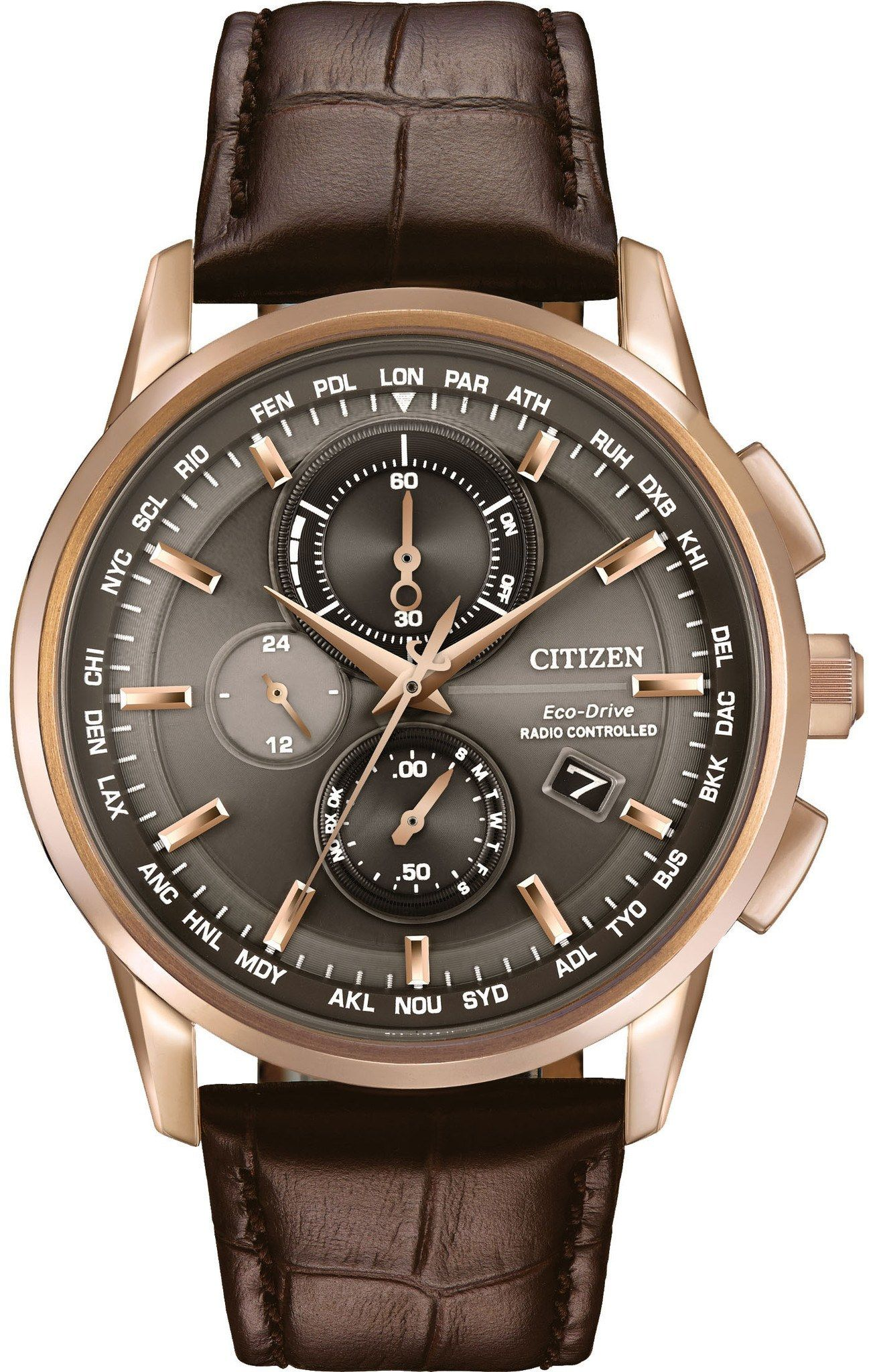54b1e2443280 Citizen Eco-Drive Men s World Chronograph A-T Watch from Mullen Jewelers