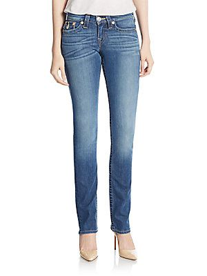 True Religion Slim Straight-Leg Jeans - Blue - Size 2