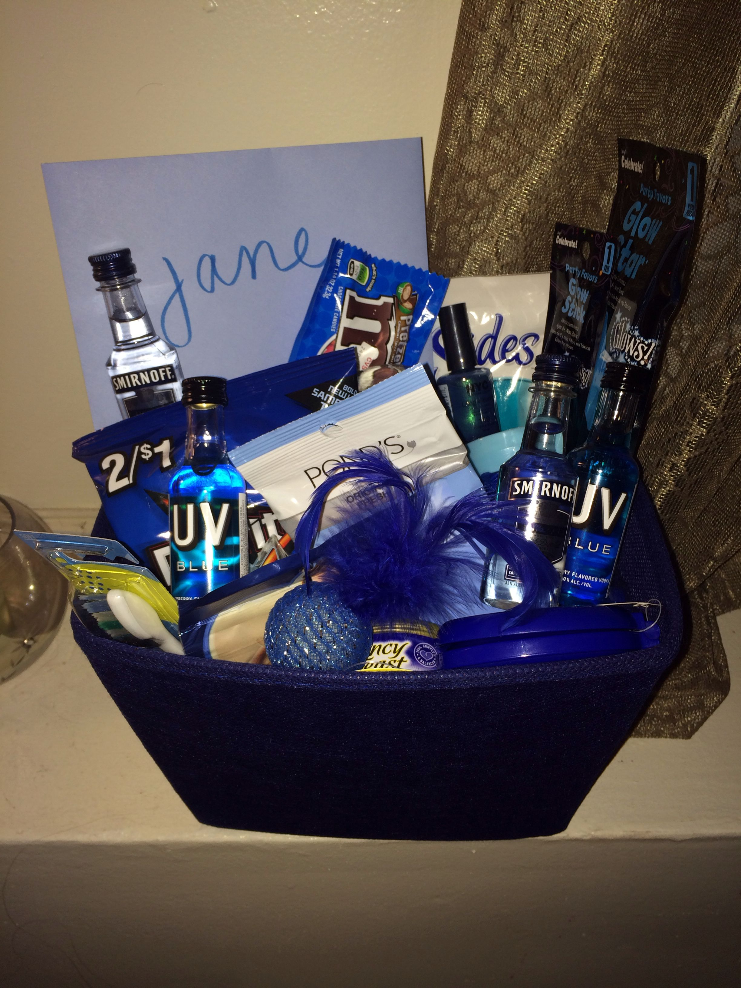 Blue Themed Gift Basket Perfect For My Sister Cat Lover 22nd Birthday