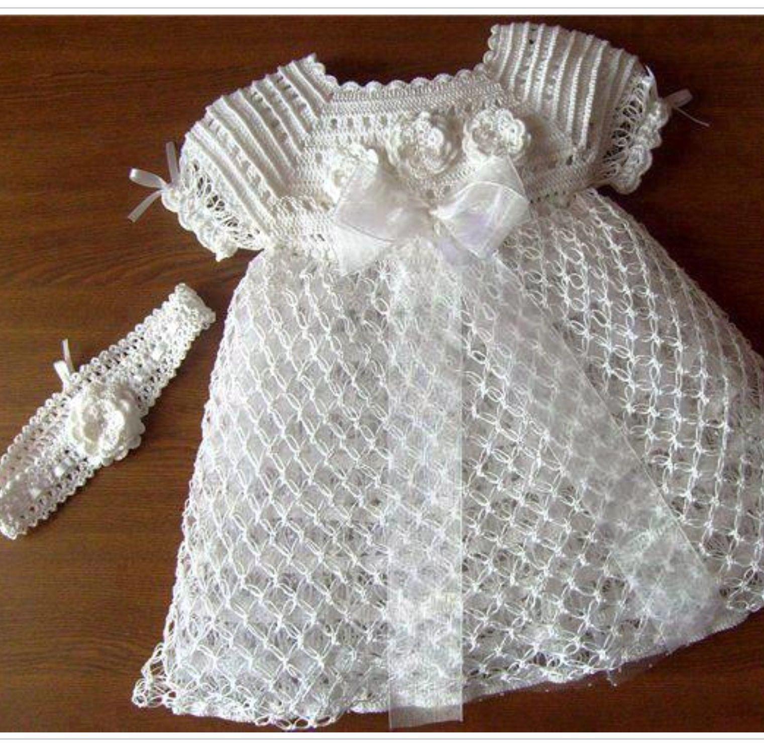 Vestido bautizo | vestdos bautizo | Crochet baby, Crochet y Baby Dress