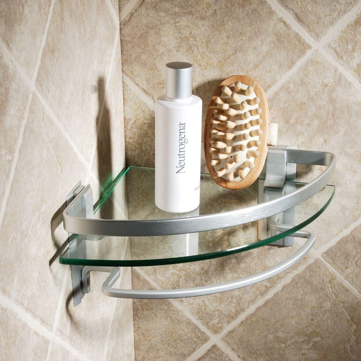 Awesome Brown Balcony Cabin Design For Bathroom Storage Ideas - Small corner shelf for bathroom for bathroom decor ideas