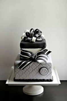 Image result for 18th birthday cake for men gold black and white