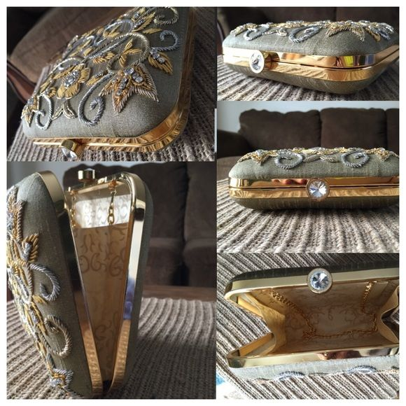 fashionable party clutch raw silk hand made party clutch Bags Clutches & Wristlets