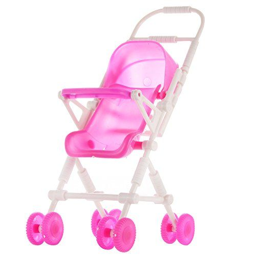 Baby Infant Carriage Stroller For Kelly Doll,Plastic Furniture Mini Doll Strolle