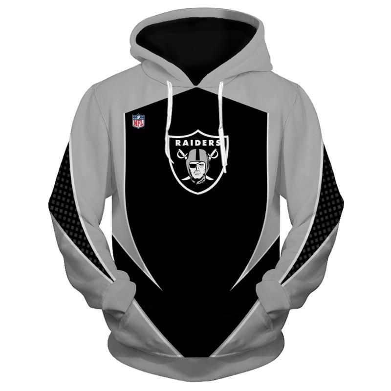 Oakland Raiders Football Training Hoodie Autumn Sweater Fans Gift Hooded