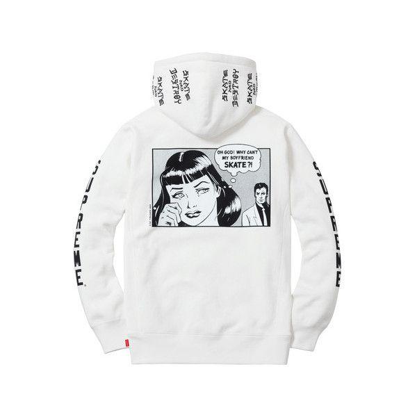 Supreme Supreme  Thrasher Boyfriend Hooded Sweatshirt (2.105.350 IDR) ❤  liked on Polyvore featuring tops c5f35bead259