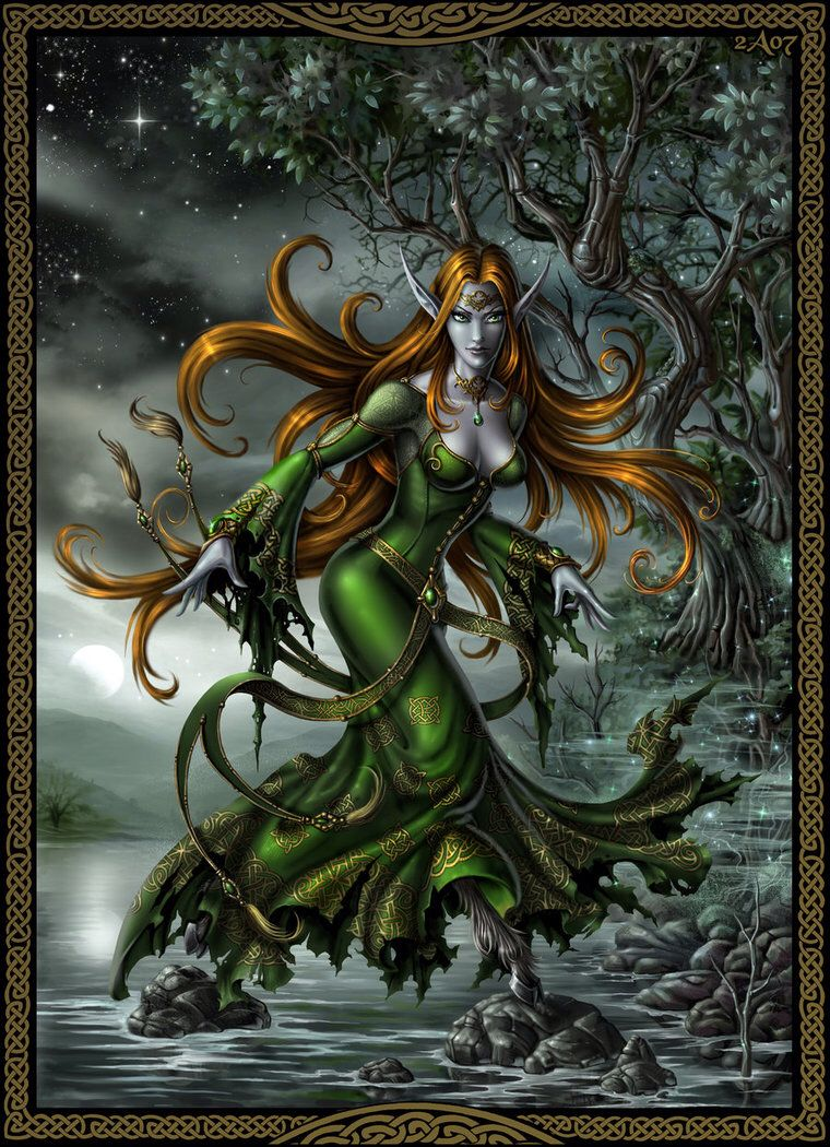 Glaistig- Scottish myth: a female fuath that appears as a ...