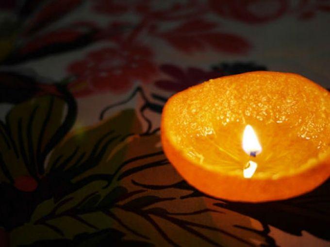 M ¿Cómo hacer velas en cascara de naranja?   Me lo dijo Lola