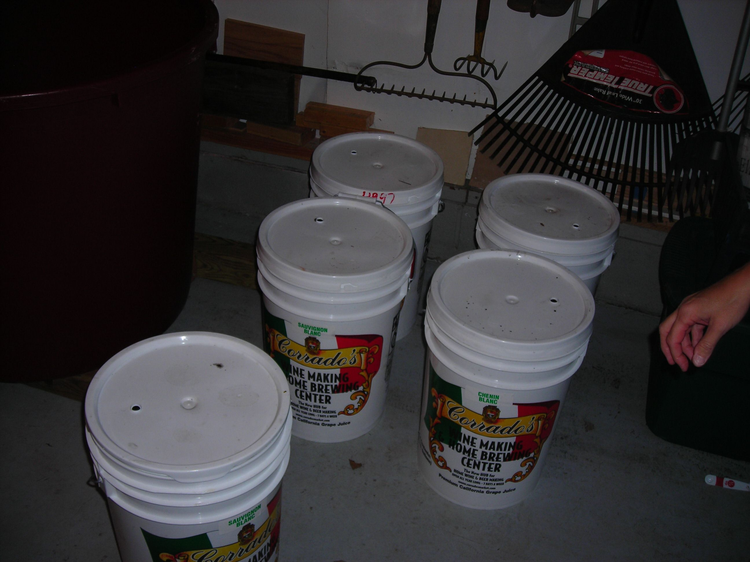 We purchase the wine juice in 6 gallon buckets from