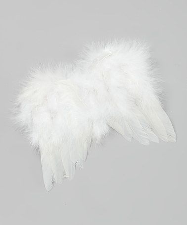 Another great find on #zulily! White Fluffy Feather Angel Wings Photo Prop by Chicaboo #zulilyfinds