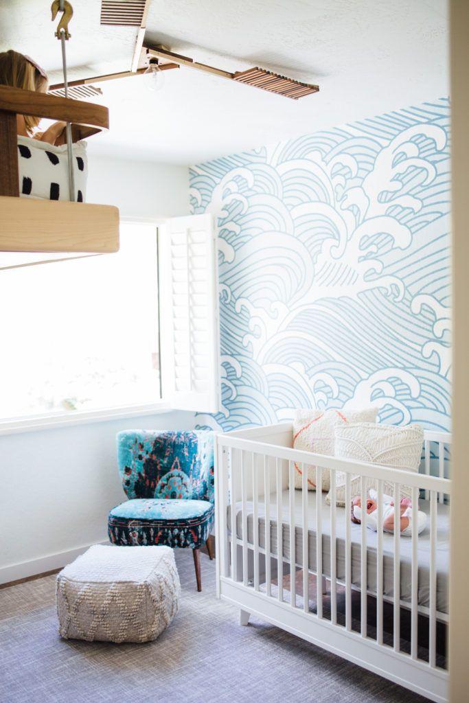 Shared Spaces, Nursery Reveal Waves wallpaper, Nursery