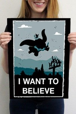 I Want To Believe Parody Poster