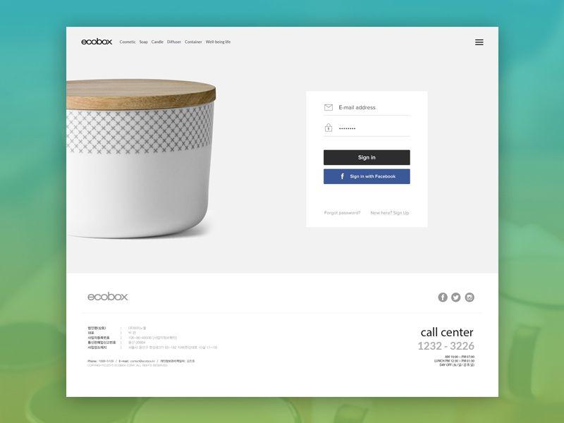 login by Mammad Emin Login design, Web design
