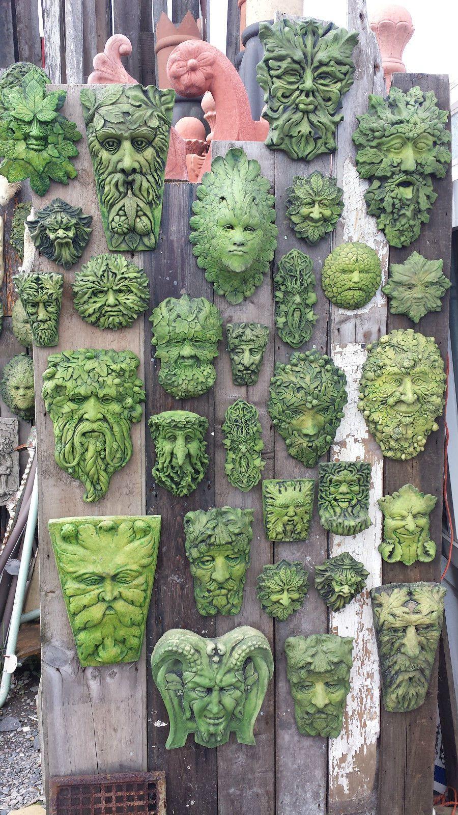 Green Man Decorative Garden Wall Ornaments Plaques Pagan / Wiccan ...