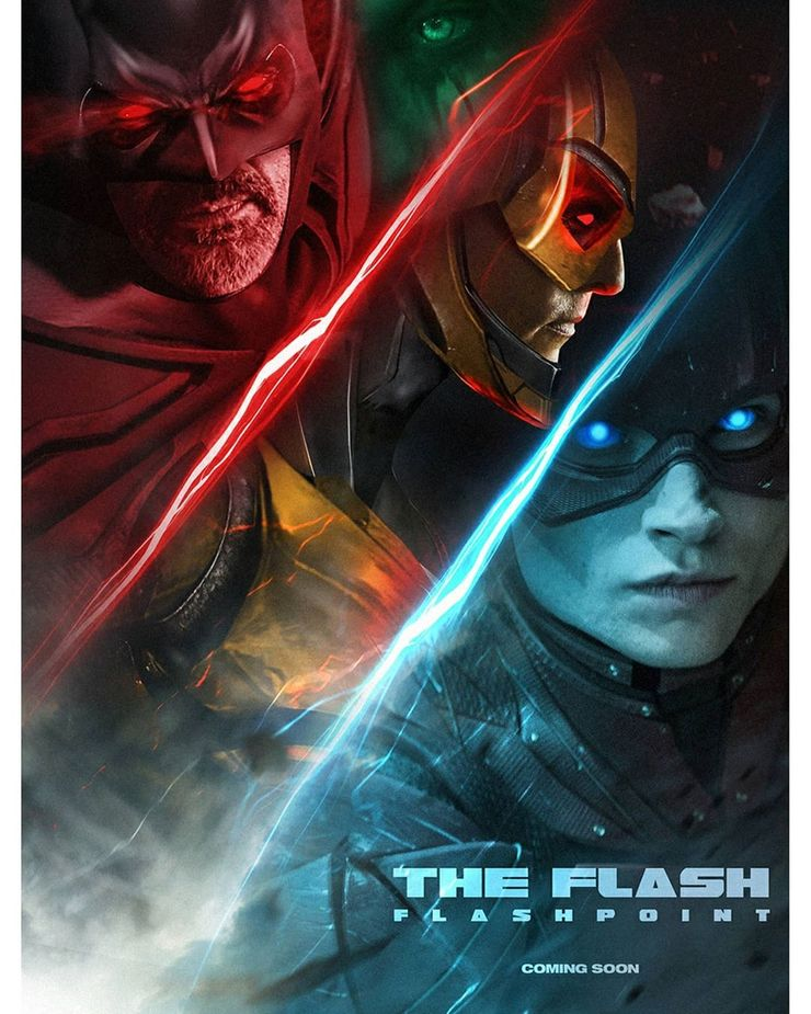 A New Fan Made Poster For The Flash Movie Casts Matthew Mcconaughey As Reverse Flash And Jeffrey Dean Morgan As Flashp Reverse Flash Comic Movies It Movie Cast