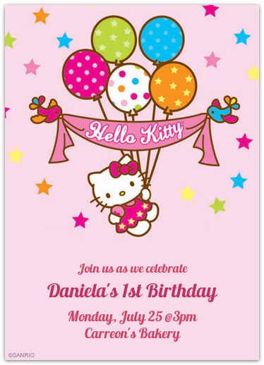 Punchbowl Daniela S 1st Birthday Hello Kitty