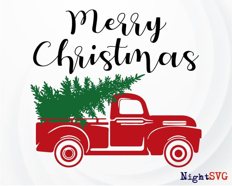 Christmas truck SVG, Christmas Tree svg, Vintage red truck svg, Christmas svg, Red truck SVG – Christmas SVG file