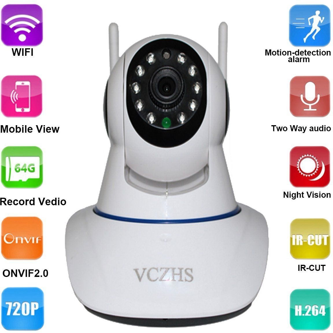 wireless wifi ip camera home security camera hd 720p wireless ip camera wifi night. Black Bedroom Furniture Sets. Home Design Ideas