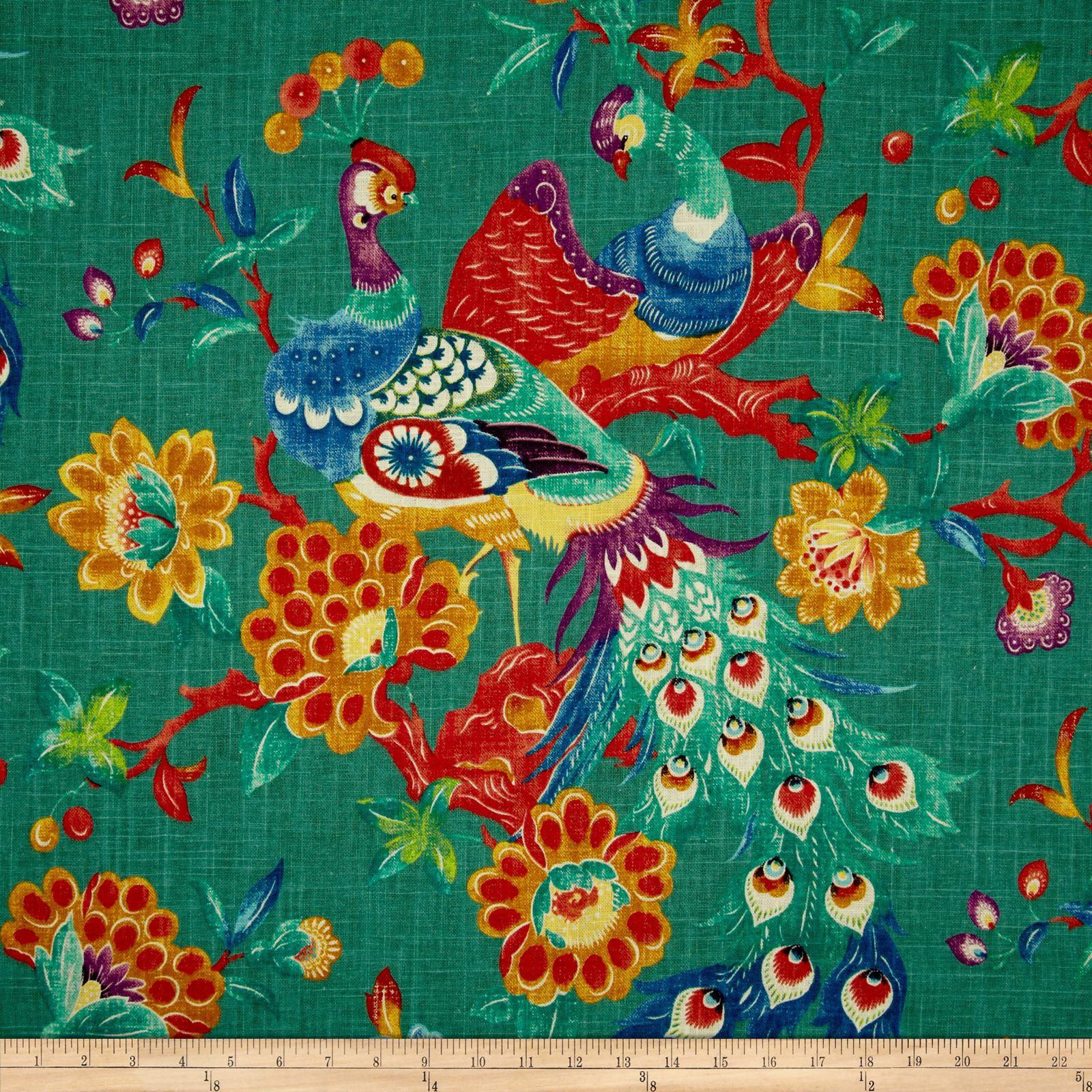 Richloom Preen Blend Peacock Fabric   Fabulous Fabrics ...