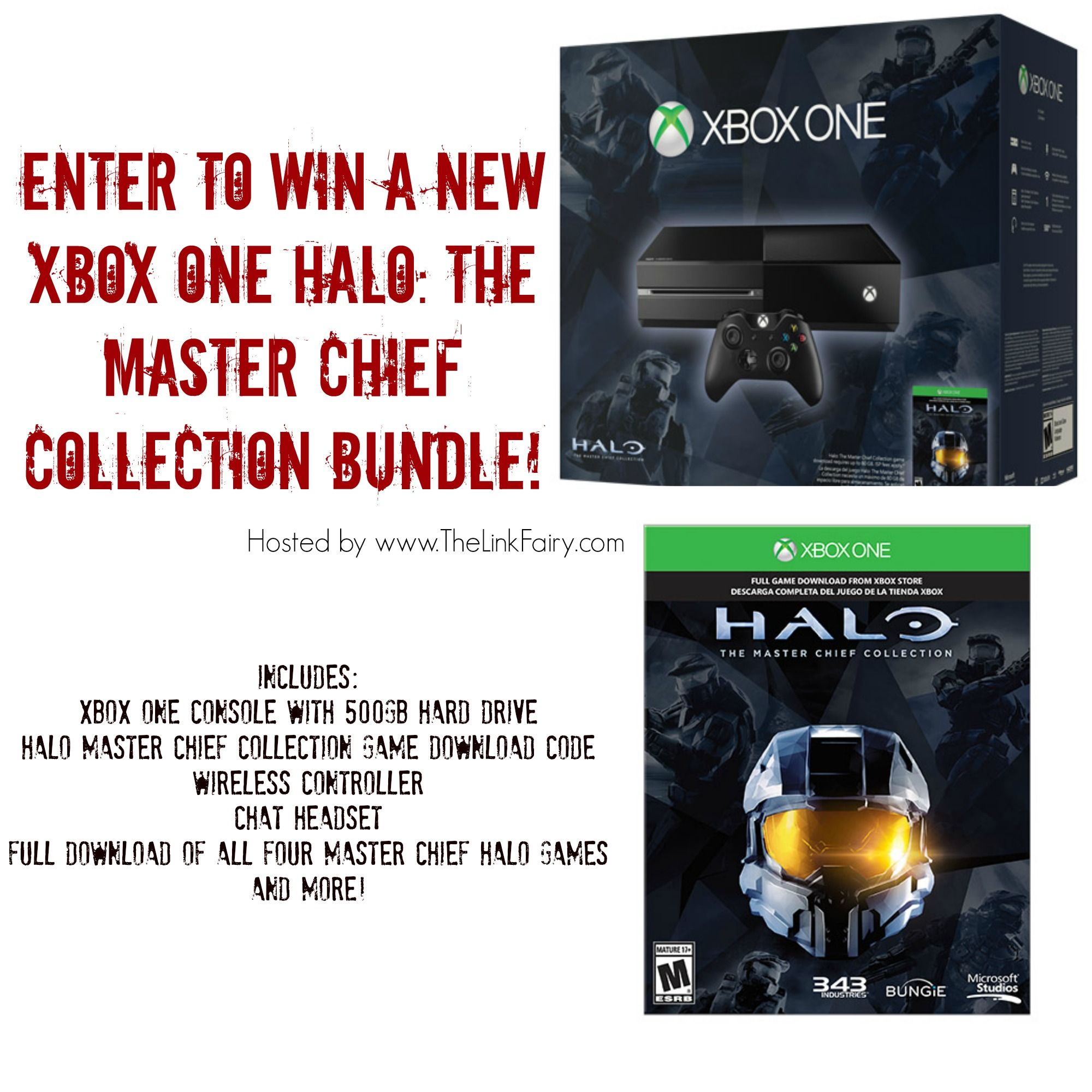 Enter to win a new XBOX ONE Halo The Master Chief Collection