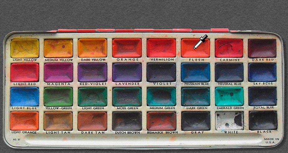 Paintset watercolor palette artist business cards