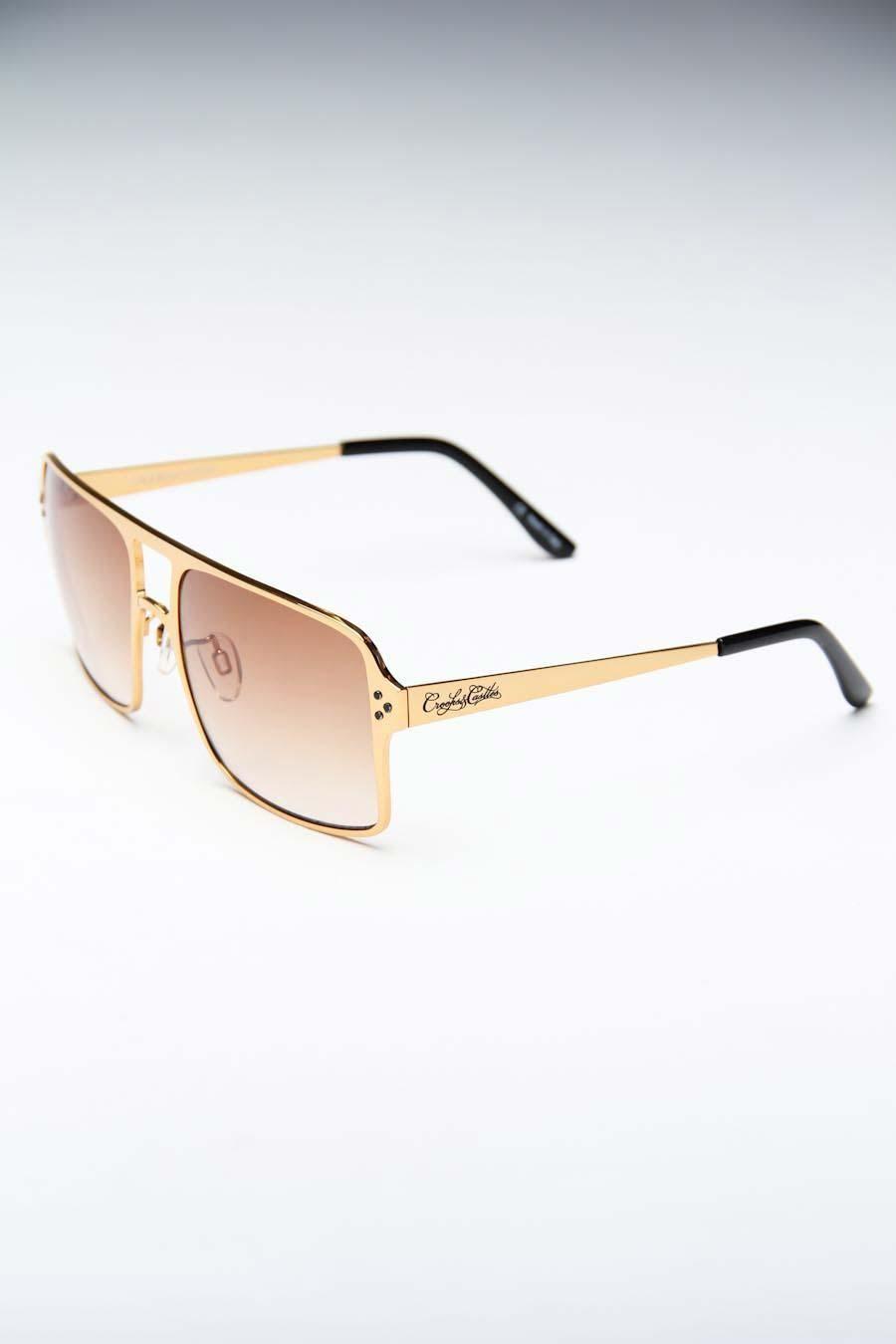 c4c3402a4395 Noriega matte gold sunglasses by Crooks and Castles