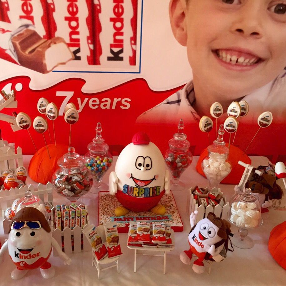 Kinder Surprise themed birthday Party Feste a tema
