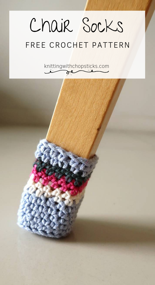 Crochet Chair Socks Pattern | Knitting with Chopsticks