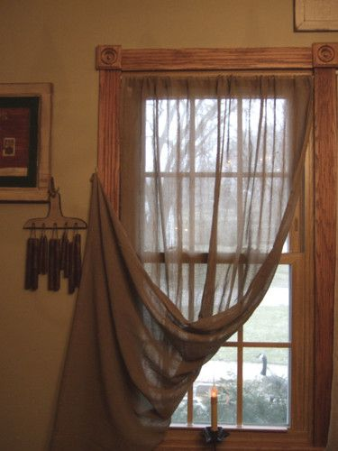 Primitive Oat Panel Curtains 40 X 63 Like Tobacco Cloth