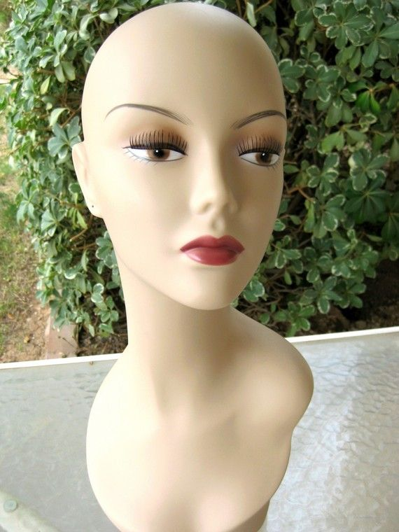 Mannequin Head Display Pierced Ears Life Size Photo By Crochetgal 40 00