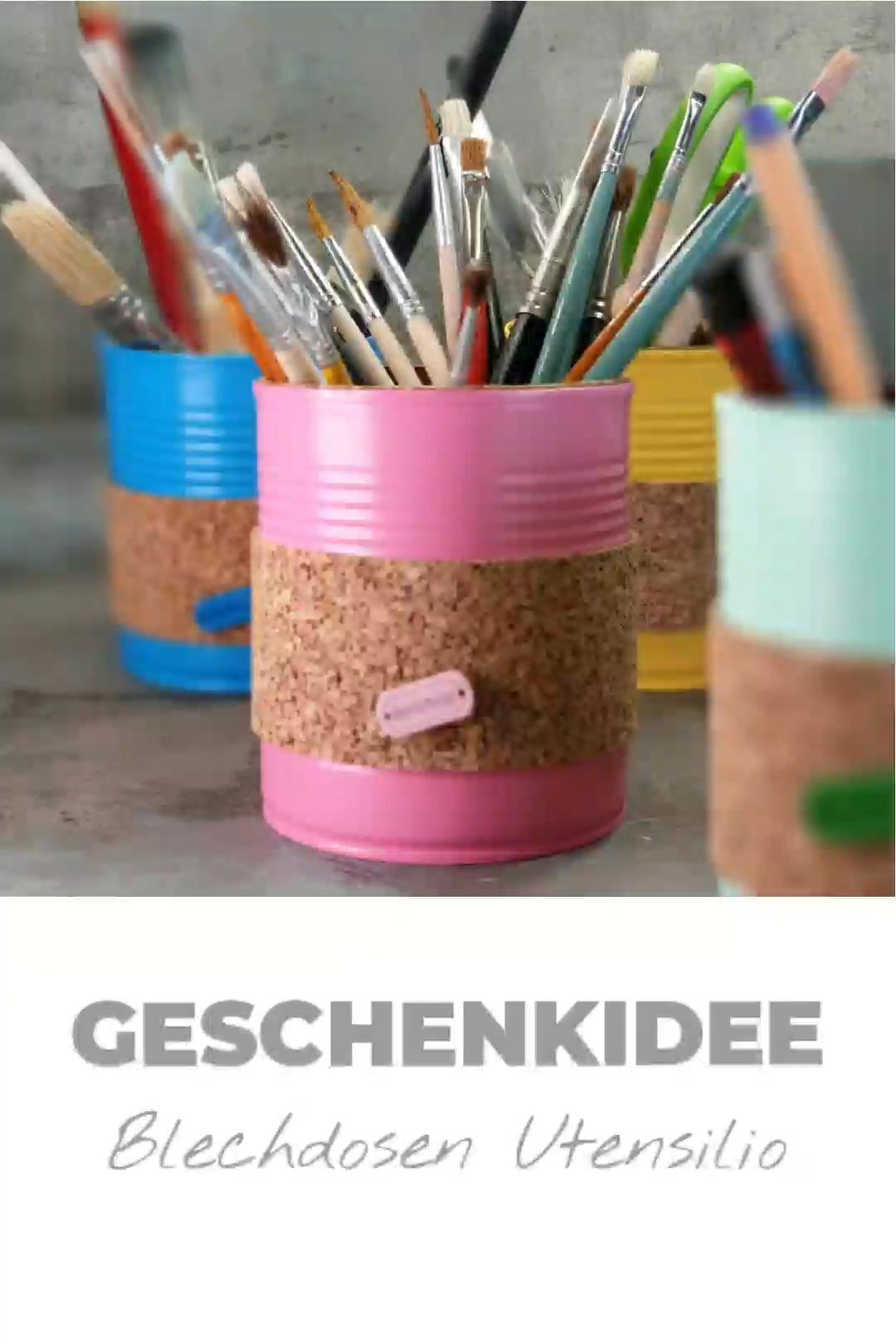 Photo of Geschenkidee DIY Blechdosen Utensilio
