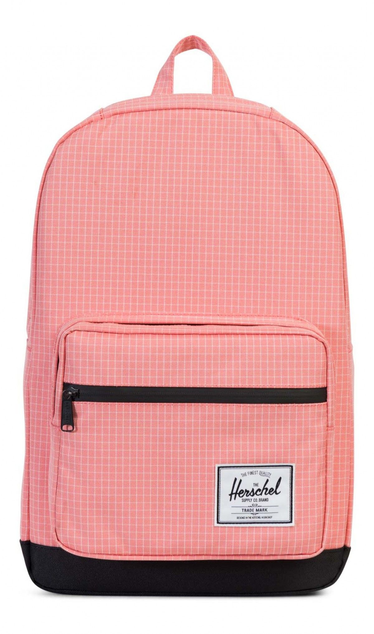 e2d6d37a1ee Herschel Pop Quiz Backpack 600D Poly Strawberry Ice Grid Black ...