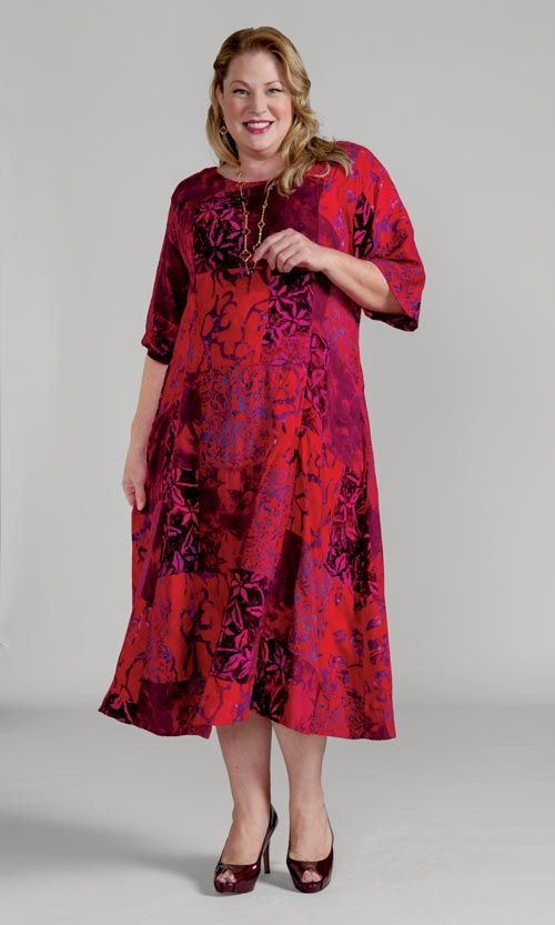 Plus Size Fashion for Women | 100% Rayon Batik Dress | Sizes 1X-8X ...