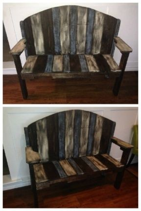 Nice Bench Made From Recycled Pallets