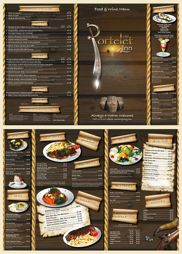 25 Inspiring Restaurant Menu Designs Wooden Back Drink Menu Menu ...