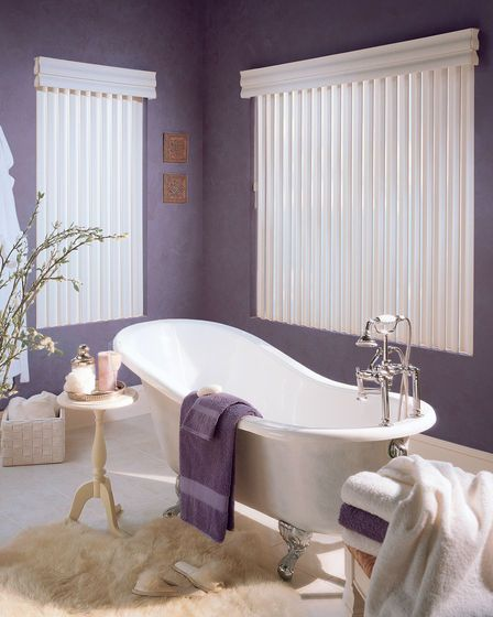 Small Bathroom Blinds cadence® soft vertical blinds with permatilt® wand control system