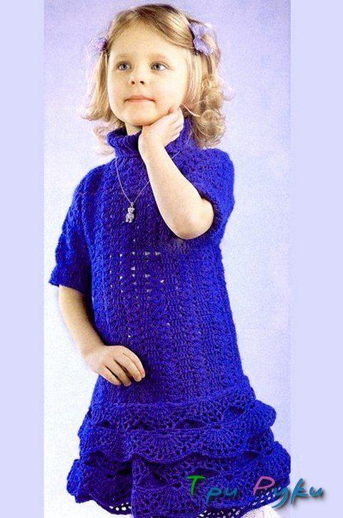 вязание крючком девочке 4 лет
